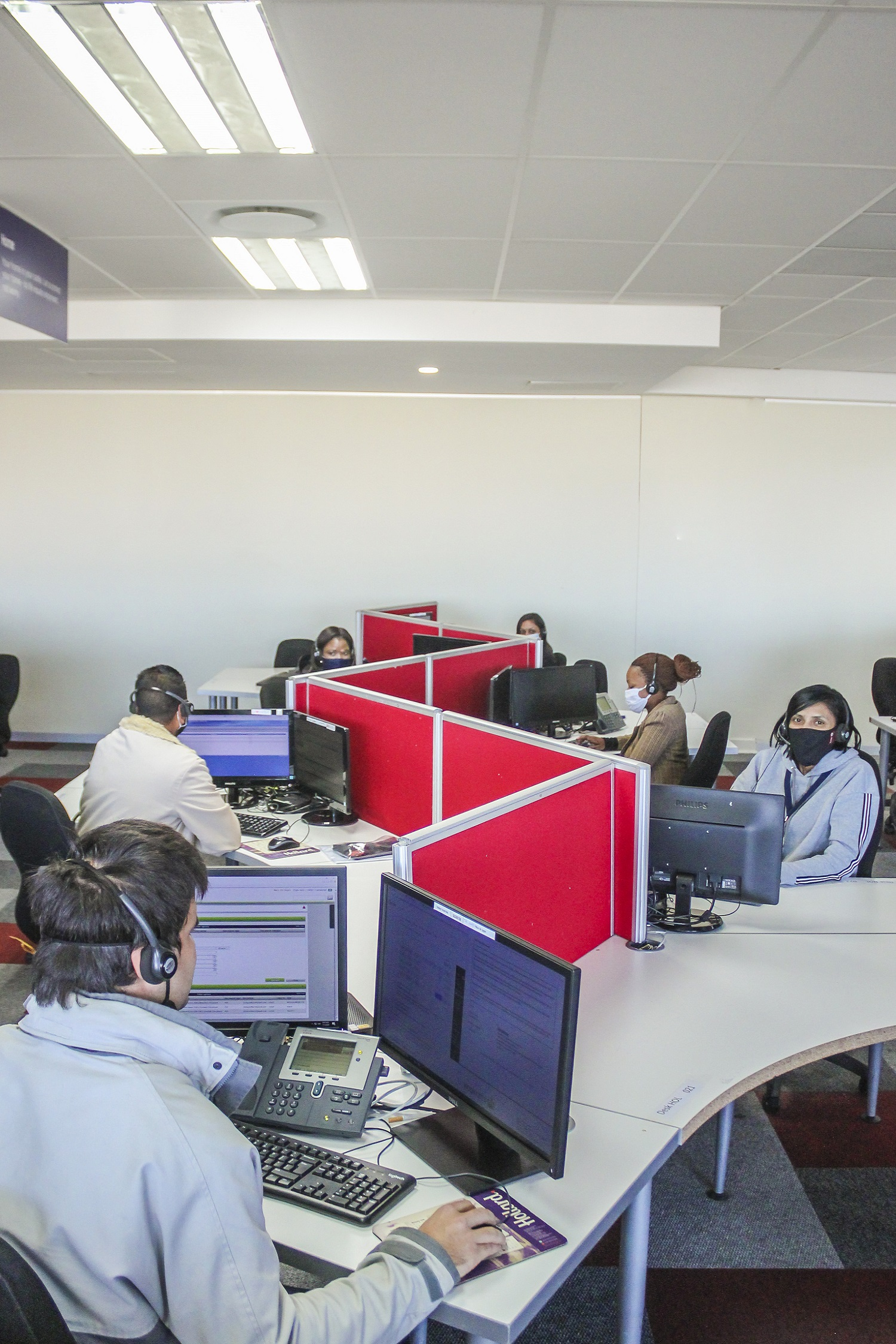 CCI South Africa Call Centre with social distancing